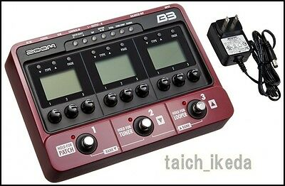 Zoom B3 Bass Guitar Multi Effects and Amp Simulator Pedal EMS from Japan