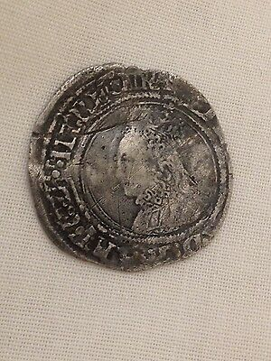 Elizabeth I second issue  groat silver hammered coin 1st