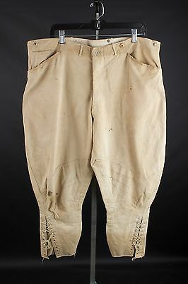 Vtg WWI US Army Infantry Summer Weight Khaki Cotton Breeches Pants sz 40 #1810