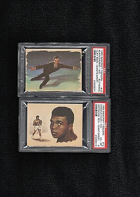 ~ 1965 Bancroft Tiddlers ~ CASSIUS CLAY or MUHAMMAD ALI Rc ~ PSA 6 ~ Rookie Lot