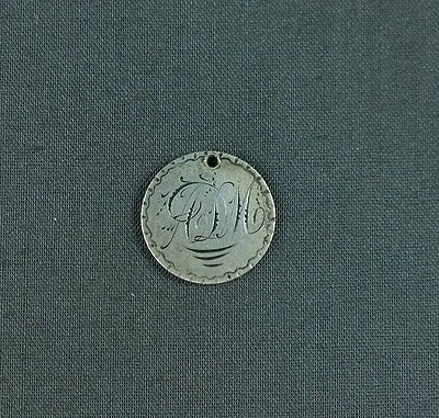 Antique Silver Love Token Monogram ALM or ADM Initials 1885 Seated Liberty Dime