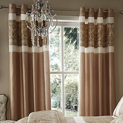 Catherine Lansfield 66 x 182.88 cm Jacquard Glamour tende, oro