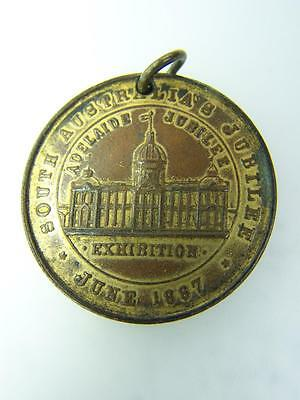 South Australian Exhibition medallion Queen Victoria Jubilee 1887  415