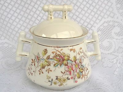 ANTIQUE German 1880-1886 Porzellanfabrik Heckman & Rappsiber Sugar Bowl (508)