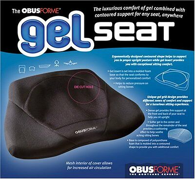 Obusforme Gel Seat (Black)