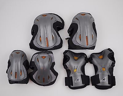 LUX PROTECTIVE GEAR 3 Pack - Rollerblade Skating Wrist Knee Elbow Pads - LARGE