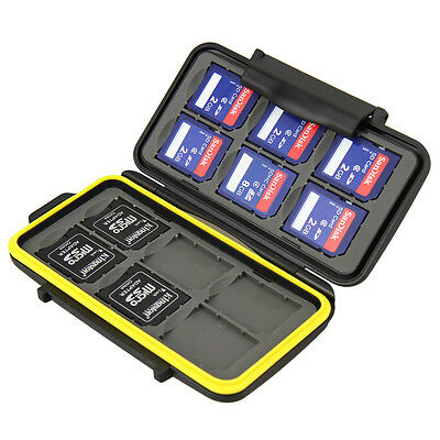 Water-Resistant Anti-shock Memory Card Case for 12 x SD cards JJC MC-SD12