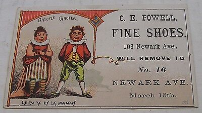 Victorian Trade Card, C.e. Powell, Fine Shoes, Great Graphics