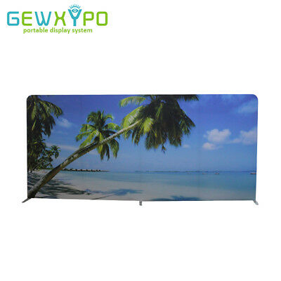 16.5ft*8ft Straight Stretch Fabric Display Stand With Single Side Printed Banner