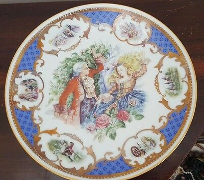 1983 French Limoges Sleeping Beauty Fairy Tale Display Plate