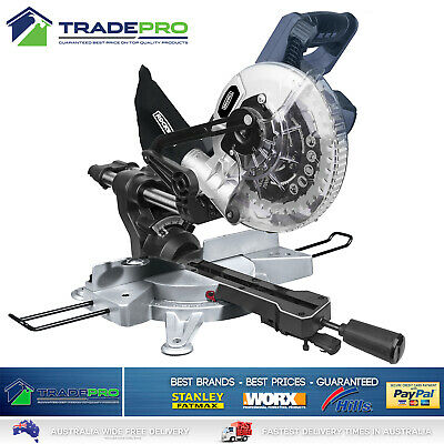 "Slide Mitre Coumpound Bevel Drop Saw PRO Xceed 250mm 10"" & Sliding Extension Bar"