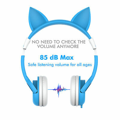 b65f76e4d9a iClever Cute Cat Ear Headphones for Girls Kid Friendly Volume Limiting  Headsets