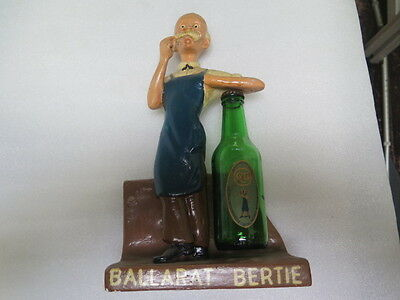 Australian Pottery Ballarat Beer Bertie Plaster Advertising Statue