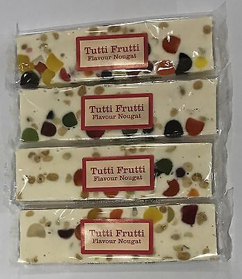 903982 4 x 150g BARS OF TUTTI FRUTTI FLAVOUR NOUGAT - THE REAL CANDY CO - UK