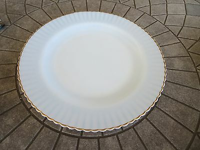 """Monax Depression Glass Petalware with Gold Trim Dinner Plate 9"""""""