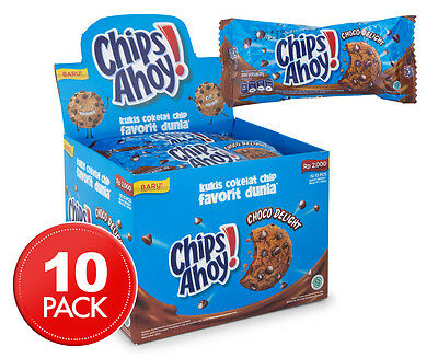 10 x Chips Ahoy! Choco Delight Chocolate Chip Cookies 28g