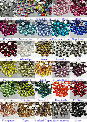 1440~7200pcs Gava Flatback Rhinestones SS12~SS20 Multiple Color Crystal