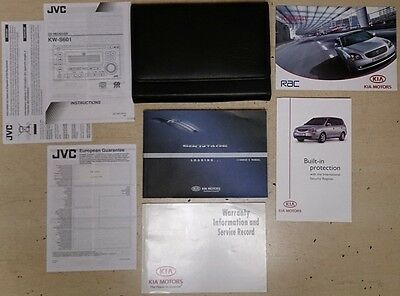 Kia Sportage, Owners Manual, Warranty And Service Inf. Jvc Cd Receiver Kw-S601