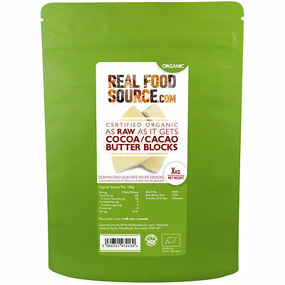 "RealFoodSource Certified Organic ""As Raw As It Gets"" Cocoa/Cacao Butter"