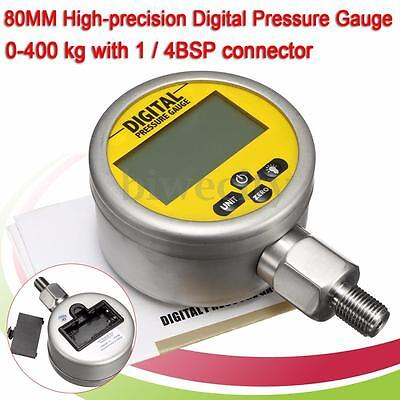80MM Digital Hydraulic Pressure Gauge 400BAR/6000PSI with BSP1/4 Connector