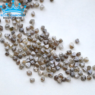 1 carats+ 100% Natural Loose Rough Diamonds Octahedron Shape 3.00mm Uncut Real