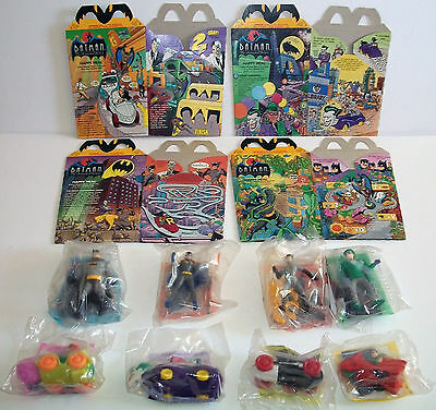 Batman The Animated Series McDonald's Happy Meal Action Figures & Boxes 1992
