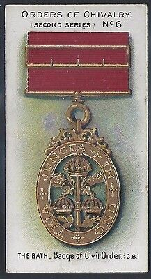 Taddy-Orders Of Chivalry (2Nd Series)-#06- Quality Military Medals Card!!!