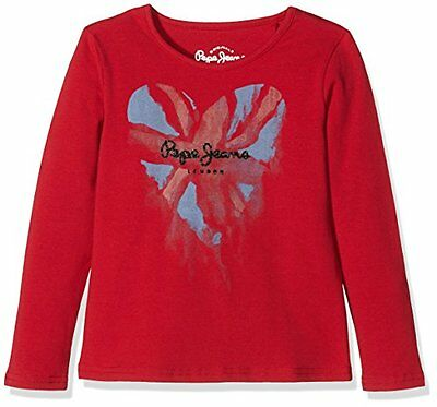 Pepe Jeans Christy, T-shirt Bambina, Rosso (Berry), 16(UK)