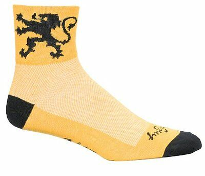 Multicolore - Lion of Flanders Yellow/Black (TG. Piccola/media) Sockguy Calze cl