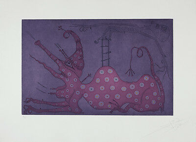 JOAN PONÇ - Etching hand signed & numbered | Spanish contemporary, surrealism
