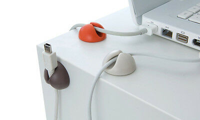 Drop Clips USB Charger Holder Mini Cable Cord Lead Clip Desk Tidy Wire Organiser