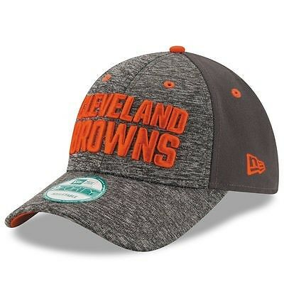 Cleveland Browns New Era 9Forty Shadow Adjustable Cap - Heather Grey/Graphite