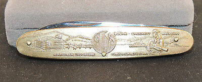 Brass 1982 World's Fair Knife Knoxville Tennessee 3 inches long  (11395)