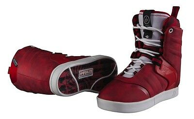 Hyperlite Wakeboard AJ System Boots Size 9 2016 Brand New Red
