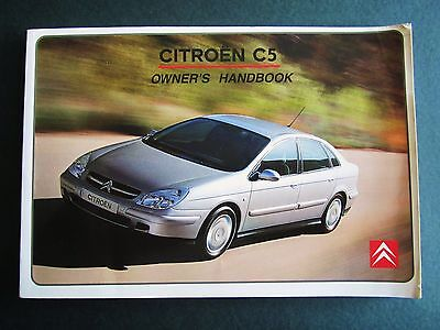 CITROEN C5 - 2001   UK OWNERS MANUAL HANDBOOK. All Models