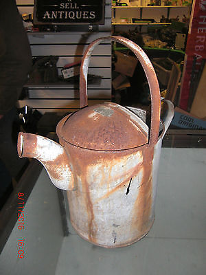 Vintage  Galvanised Watering Can 2 Gallon With Wide Spout Rare