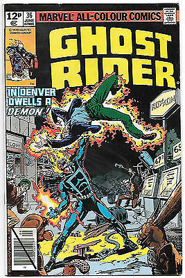 Ghost Rider #36 (Marvel 1979; vf-) Guide value $5.50 (£4.00)