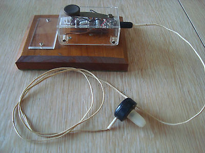 Morse key old with headphone