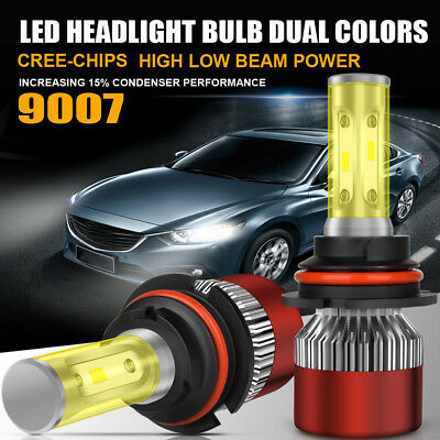 PHILIPS COB 9007 HB5 200W 20000LM LED Headlight Kit Hi/Lo Power Bulbs 6500K Cool