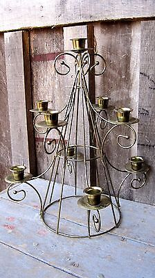 Vintage Metal Christmas Tree Taper Candle Holder Home & Garden Holiday Light