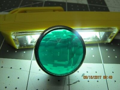 "1"" Panel Mount Pilot Indicator Light Green Faceted Jewel Lens Watertight [A3S4]"