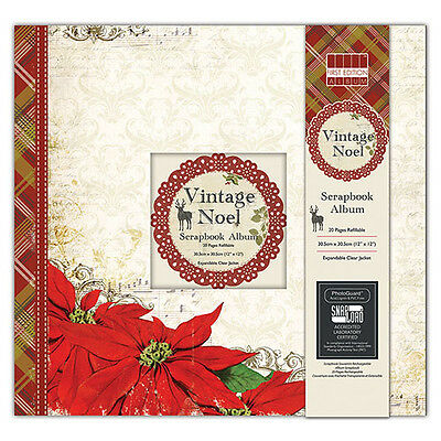 "12 X 12""christmas First Edition Scrapbooks Vintage Noel,silent Night, Refillable"