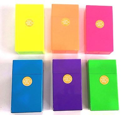 Super King Cigarette Box/case Cig Pack Holder Fashion Colours 6 Colours