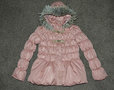 Gorgeous *NEXT* Girl`s Hooded PINK Puff Jacket, TOP, size 11-12 Years 152cm, VGC