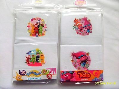 Girl`s 2 Pack Character Vests