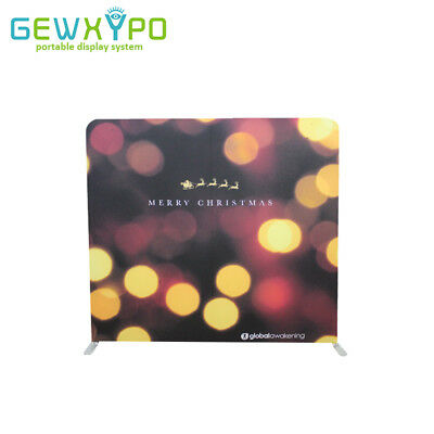 8ft*7.5ft Straight Tension Fabric Backwall Display With Single Side Print Banner