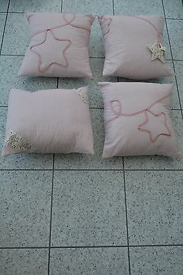 "NEW Mamas and Papas Mille and Boris Girls Nursery Bedroom Cushion 15"" x 15"""