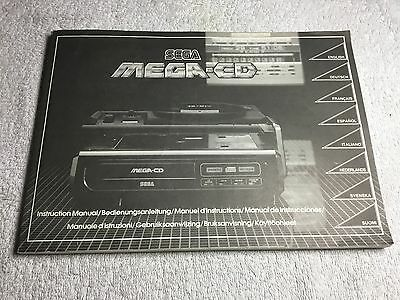 Sega Mega CD Mark 1 Instruction Manual Booklet For The Console Ideal Replacement