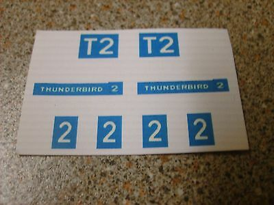 Dinky 106  Thunderbird  2  Space Gerry Anderson  Set Replacement Stickers New
