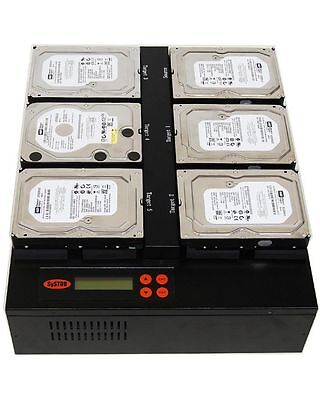 1-5 Hard Drive / Solid State Drive (HDD/SSD) Duplicator (150MB/sec) - FlatBed